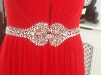Red Prom Dress size 8 to fit 5'3