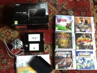 Nintendo 3DS in black with 7 games and dock - Excellent Condition