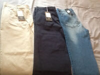 Three Pairs Of Mens Trousers, Brand New.