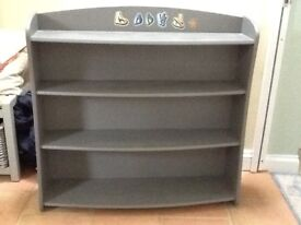 Bookcase/shelving unit painted in grey, perfect upcycling project