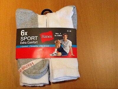 Hanes - Herren Sportsocken Extra confort-6er Pack ,USA Nr
