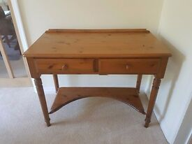 Small console table, ducal solid oak.