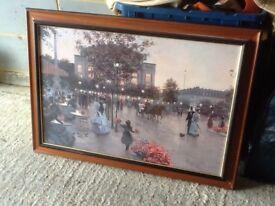 Picture landscape glass framed