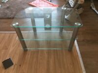 selling my full glass tv stand as redecorating in great condition.Buyer to collect or delivery extr