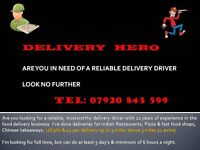 DO YOU NEED A DELIVERY DRIVER FOR YOUR TAKEAWAY !!!