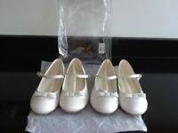 2 x PAIRS BRIDESMAIDS SHOES SIZE 1