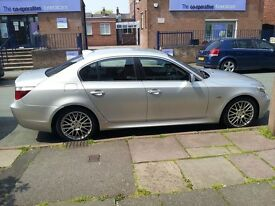 BMW 525D E60 2004 TITANIUM SILVER FOR SALE 18 INCH TSW ALLOYS