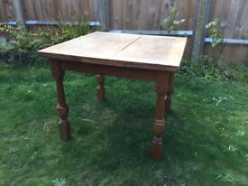 Wooden Dining table with extension leaves