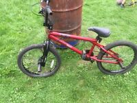 Diamondback bmx bike recently serviced has stunt pegs fitted for grinding and other stunts ect