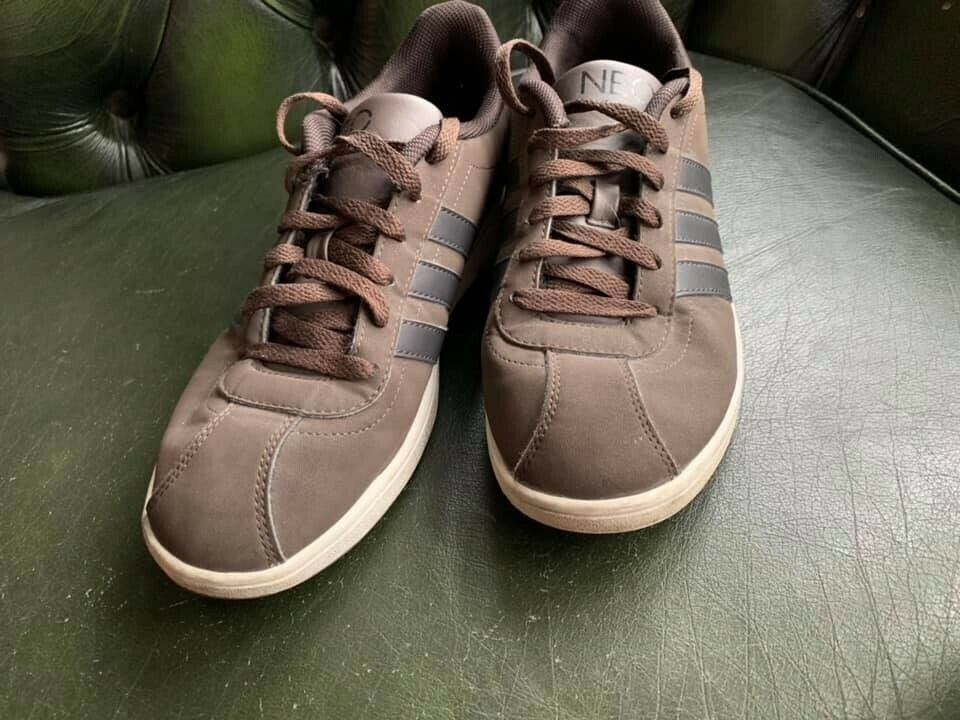 pretty nice eece1 7e918 Adidas Neo trainers brown leather size 8