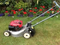 """Honda 16"""" Izzy petrol lawnmower. well used but works well."""