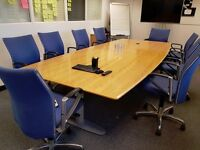 Large conference table (& chairs)