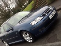 2006 SAAB 9-3 VECTOR SPORT 1.9 TID SALOON IN SHOWROOM CONDITION WITH LEATHER