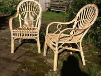 Pair of cane chairs.