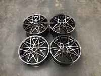 19″ Staggered 666M Style Wheels – Gun Metal / Machined – E90 / E91 / E92 / F10 / E46 / Z4 / F30