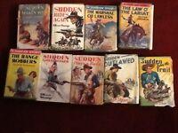 STORIES OF WORLD FAMOUS GUNMAM/COWBOYS. BY OLIVER STRANGE X 9