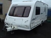 2006 elddis crusader hurricane 2 berth end changing room with fitted mover & awning