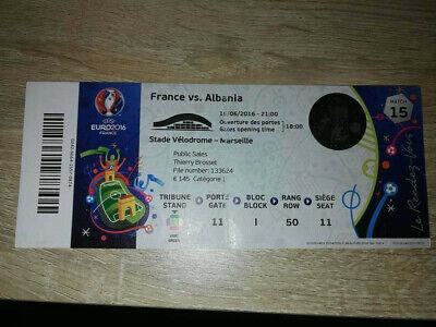 Ticket Euro 2016 : France - Albania MATCH 15