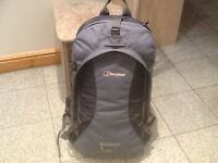 Berghaus SILHOUETTE 55litre capacity side opening travel rucksack-used for 1weekend only