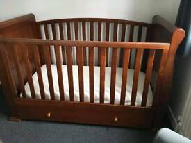 Dark Wood Cot bed