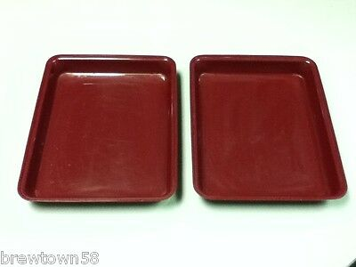 Restaurant Deli Delicatessen Burgundy 2 Rectangle Display Food Catering Aa4