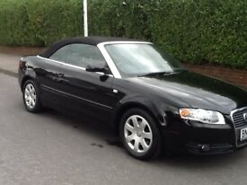 AUDI A4 S-LINE CONVERTIBLE, 2 LITRE, BLACK, GOOD CONDITION