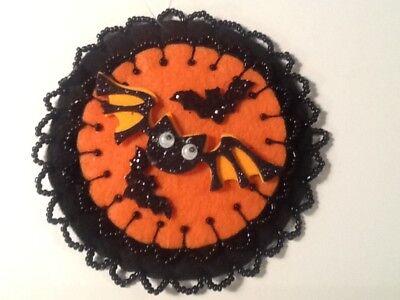 Bat ornaments for halloween tree decorating, black, orange,  item C114](Bat For Halloween)