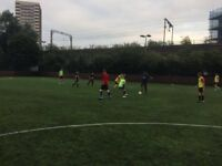 Friendly football session in Mile End, East London. Looking for new players