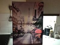 Paris and New York canvasses £20 the pair