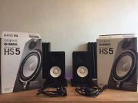 Yamaha HS5 Studio Monitor Pair - w/ box & acc.