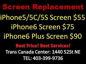 Trans Canada Center Cellphone Repair Store - IPHONE5S screen repair=$55 tel:403 399 9736
