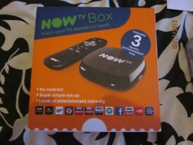 BRAND NEW NEVER BEEN OPENED NOW TV BOX WITH 3 MONTHS ENTERTAINMENT PASS