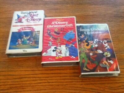 Disney Christmas Vhs Collection~HTF~Rare