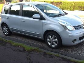 Silver Nissan Note Acenta