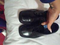 kids black smart shoes