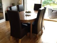 Nathan oval extending Dining table & 6 chairs