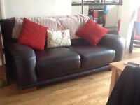2 seater leather sofa - DFS £75