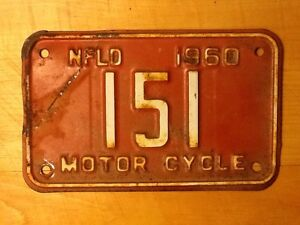 1960 Newfoundland motorcycle licence license plate