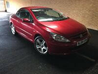 PEUGEOT 307 cc convertible limited edition 180 BHP