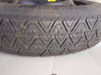 Tyre with BMW spare wheel