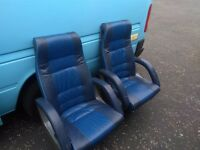 Large leather seats with lapbelts, Minibus perfect for camper conversion