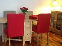 Gate-leg Dining Table and 4 Dining Chairs £130 the lot !