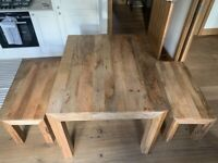 Wooden Dining Table 2 Benches - Pick up After May 24