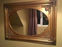 Large gold mirror for sale. 40 pound! Can deliver. Size 46 inches x 34 inches. 40 pound