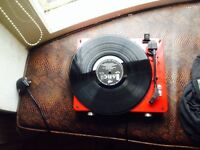 GPO STYLO turntable +my records collection of 30 vinyl (DIRE STRAITS, GENESIS, JJ CALE an more)