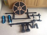Various items of fitness equipment