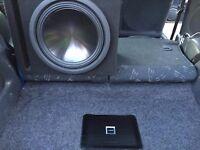 ALPINE SUB BOX AND AMP