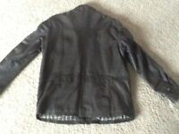 BOOKER REAL LEATHER JACKET L 42 BROWN BIKER STYLE
