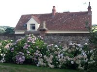 Two bedroom cottage with wonderful country views, 10 miles from Taunton