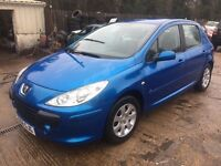 ** NEWTON CARS ** 06 PEUGEOT 307 1.4 S, 5 DOOR, GOOD OVERALL, PART S/H, MOT NOV 2017, P/EX POSS
